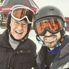 """@charlescriss:  """"75 years young and still trying too keep up with the boy wonder that is my dad ⛷"""""""