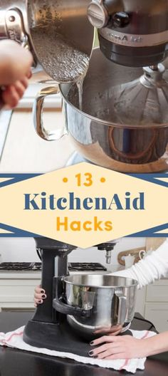 13 KitchenAid Mixer Hacks You Probably Didn't Know is part of Kitchen aid mixer recipes - They don't call it Kitchen ~Aid~ for nothin' Kitchen Aid Recipes, Kitchen Tools, Kitchen Gadgets, Kitchen Aide, Kitchen Racks, Kitchen Utensils, Cooking Gadgets, Cooking Utensils, Kitchen Aid Mixer Attachments
