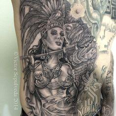 Aztec warrior  #Aztecwoman #aztec #aztecwarrior #mujerazteca #guerreraazteca #tatuajedeazteca #latinart #artelatino