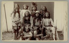 White Mountain Apache men employed as Scouts by the U. Army, including Al-che-say (sitting middle row, from the right), and Ba-il-ish (sitting middle row, from the right) - 1890 Native American Photos, Native American History, American Indians, Apache Indian, Native Indian, Indian Scout, My Heritage, Before Us, First Nations