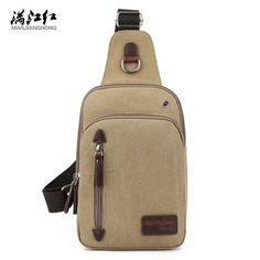 New Arrival Casual Canvas Shoulder Bag Man Bag Khaki Coffee Black Green 4 Colors Chest bag Portable Packet Shoulder Bag 1330