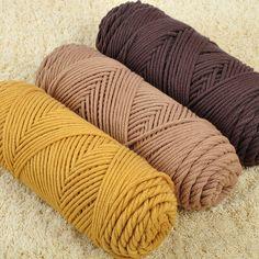 0.5 kg/lote fio grosso 100% algodão e Skincare veludo de seda de algodão mão grossa cachecol de tricô / casaco fios macios para a mão de tricô