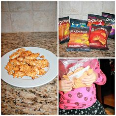 homemade chicken nuggets crusted with popchips