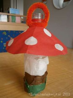 ingridheersink.yurls.net  lampionnen New Crafts, Arts And Crafts, Diy For Kids, Crafts For Kids, Red And White Mushroom, Crafty Kids, Recycled Crafts, Kids And Parenting, Activities For Kids