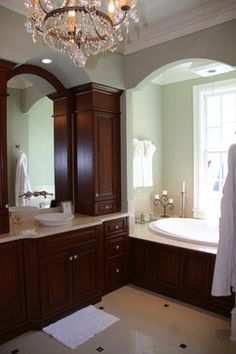 Love The Cabinetry ~ Howard Residence Master Bath Traditional Bathroom
