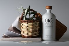 "The Olea Secret is Premium Extra Virgin Olive Oil, officially recognized as a product of ""Protected Designation of Origin"" (P. Olive Oil Packaging, Crete, Vodka Bottle, Packaging Design, Minimal, Tasty, Products, Design Packaging, Package Design"