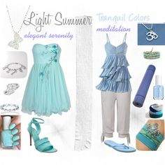 """""""Light Summer Tranquil Colors"""" by julializz on Polyvore"""