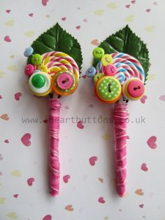 Lollipop Love Button Boutonniere - great for a whimsical wedding!