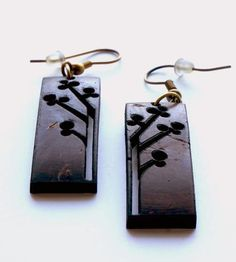 Rectangle Coconut Shell Earrings by Soothi on Scoutmob Shoppe
