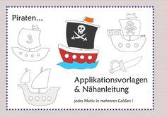 Nähanleitung und Schnittmuster, Applikationen, Piraten - Schnittmuster und Nähanleitungen bei Makerist