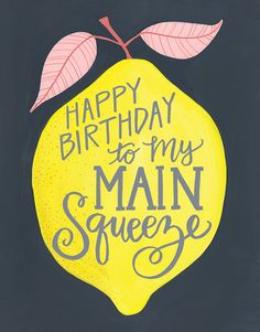 Birthday Lemon card by One Canoe Two on Postable.com