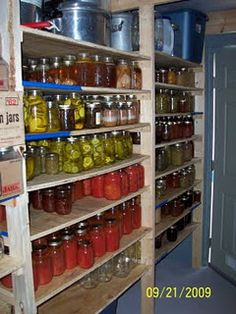 Another must in my dream home...a root cellar to hold all my canning and pickling