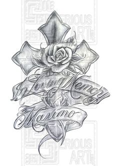 mother remembrance tattoos | Memorial Cross Flash Art Is The You See On Walls Of A Tattoo