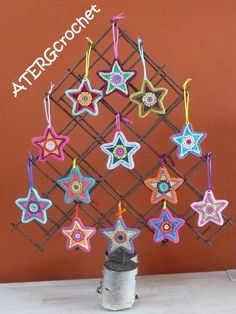 Christmas star by ATERGcrochet van ATERGcrochet op Etsy