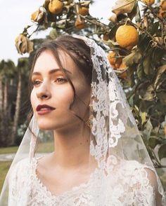 "The sicilian beauty. "" dress by Styling : Margherita Venturoni Hair stylist: Luigi gentile Make up: Camilla iacobitti Today on Le Baobab, Sicilian, Camilla, Luigi, Stylists, Wedding Day, Bride, Wedding Dresses, Hair"