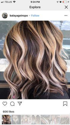 Brown Blonde Hair, Brunette Hair, Love Hair, Great Hair, Haircuts For Medium Hair, Hair Color And Cut, Tips Belleza, Hair Highlights, Balayage Hair