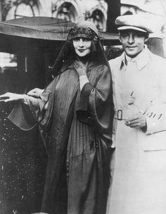 Rudolph Valentino and wife Natacha Rambova, 1920's