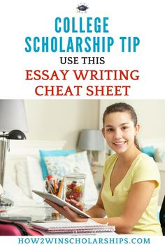 Scholarship Essay Cheat Sheet for Students - FREE PRINTABLE #college #scholarships #ScholarshipMom #ScholarshipTips
