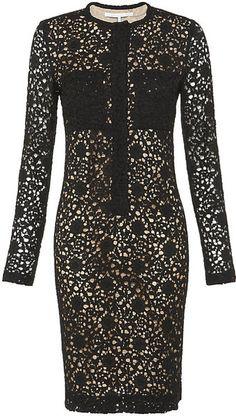 Victoria Beckham Patch Pocket Lace Dress - Lyst