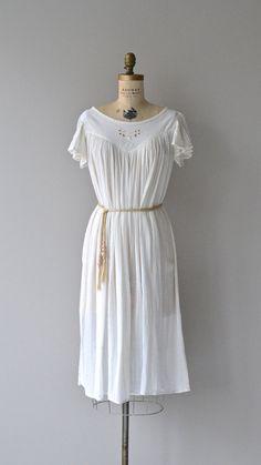 Philhellenic dress vintage 1970s dress 70s cotton by DearGolden