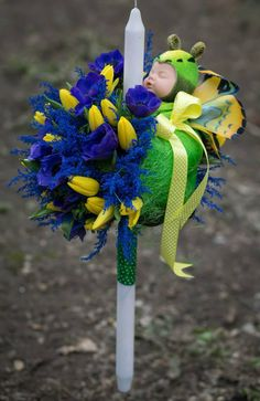 Christening Decorations, Anne Geddes, Candels, Paste, Toys, Hobby, Handmade, Pineapple, Party Ideas