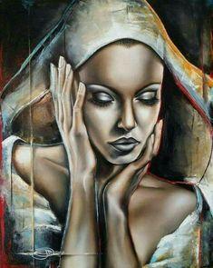 Black Love Art, Black Girl Art, Art Girl, Africa Painting, Africa Art, Painting Art, African American Art, Mural Art, Portrait Art