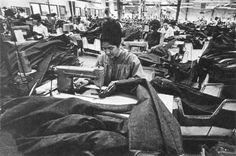 Mexican Migrant Workers. Garment sweatshop