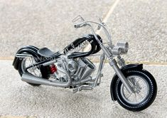 Handmade HARLEY DAVIDSON Aluminium Wire Art Sculpture Motorcycle Model Black