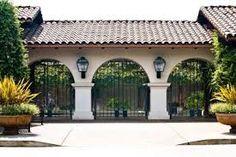Porte Cochere Of Mediterranean Style Spanish Oaks Estate
