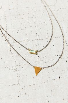 Stone + Triangle High/Low Necklace - Urban Outfitters