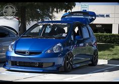 Stanced Honda Fit