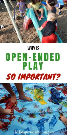 Why is open-ended play so important? What is open-ended play and why does it matter? Open-ended play is any activity that allows children to create unlimited scenarios on their own. If you give a child a stick or a cardboard box, they can create a variety of activities on their own that allow them to express themselves.