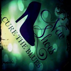 New shoes cure the blues? They sure do! I wake up to this every morning -- great decal <3