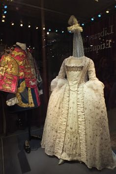 Queen Charlotte's Wedding Gown at Kensington Palace-wife of George III