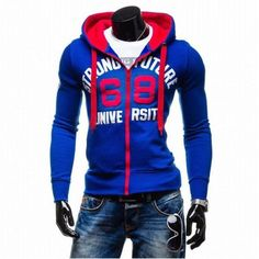Men's Casual Winter Cap Hit in the Chest Color Printing Cotton Lining Hoodies Sweatshirts - Gchoic.com