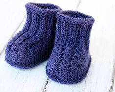 Baby Booties / Knitting Pattern Baby Instructions in English