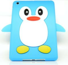 Ipad Mini Case - Cute Penguin Aqua Blue Soft Silicone Skin / Case / Cover Accessories for Ipads by Oliviasphones by OLIVIASPHONES, http://www.amazon.co.uk/dp/B00AYFA9WU/ref=cm_sw_r_pi_dp_s8PKsb1REGRTW