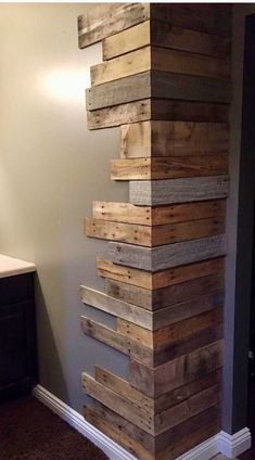 Home Room Design, Home Interior Design, Interior Decorating, Home Projects, Home Crafts, Diy Home Decor, Quinta Interior, Wood Wall Design, Diy Pallet Furniture