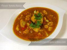 flower batata rassa recipe in marathi