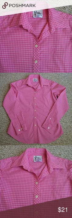 Lily Pulitzer shirt Pink and white, button up shirt, size 4. Lily Pulitzer Tops Button Down Shirts