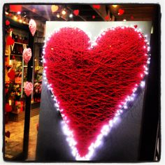 Valentines Day Window Display @ Urban Design Flowers Birmingham.