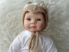 Newborn Hat .Knitted Hat.Unique hat.Stocking Hat. by knitsdwarfs, $24.00