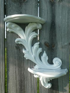 Upcycled Vintage Style Home Wall Decor Shelf in White by Erindee, $16.00