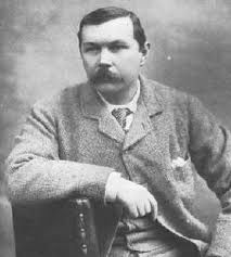 Sir Arthur Conan Doyle, author of The Hound of the Baskervilles and  A Study in Scarlet