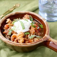 Lasagna Soup- everything that you love about lasagna in one convenient bowl. Noodles, tomatoes, and cheesy goodness!