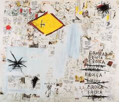 Music, words and collage, work by Jean-Michel Basquiat, on view at the Guggenheim Museum Bilbao from July 3 to November 2015 Jean Michel Basquiat Art, Jm Basquiat, Andy Warhol, Graffiti Art, Crayon Canvas, Guggenheim Bilbao, Grand Chef, Fine Art Prints, Canvas Prints