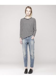 Comfy stripes and denim. Hope / Byronesse Top