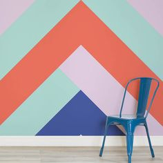 Bring the walls of your home to life with one of our incredible design wallpaper murals. Browse through our collection and you'll be spoiled for choice. Art Mural, Wall Murals, Wall Art, Geometric Wall Paint, Geometric Wallpaper, Wall Paint Patterns, Office Mural, Colorful Playroom, Diy Wall Painting