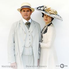 One of Downton Abbey's few loving marriages, Lady Cora and Grantham. | As seen on Masterpiece PBS