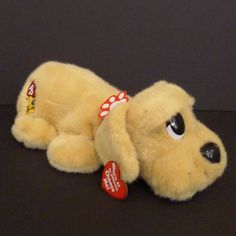 "Vtg Pound Puppies Mattel 1984 / 2004 Plush Talking Barking 13"" Stuffed Toy"